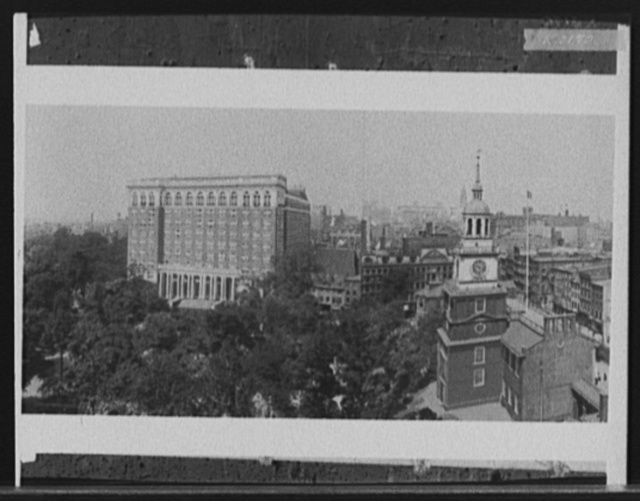 [Curtis Publishing Company and Independence Hall, Philadelphia, Pa.]