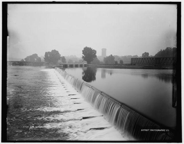 Dam across river, Appleton, Wis.