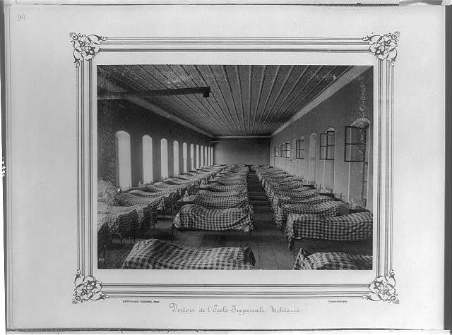 [Dormitory at the Imperial Military Academy] / Abdullah Frères, Phot., Constantinople.