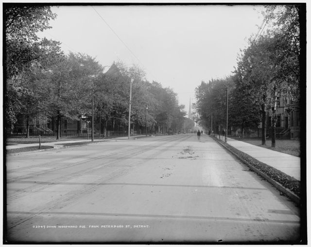 Down Woodward Avenue from Peterboro St., Detroit