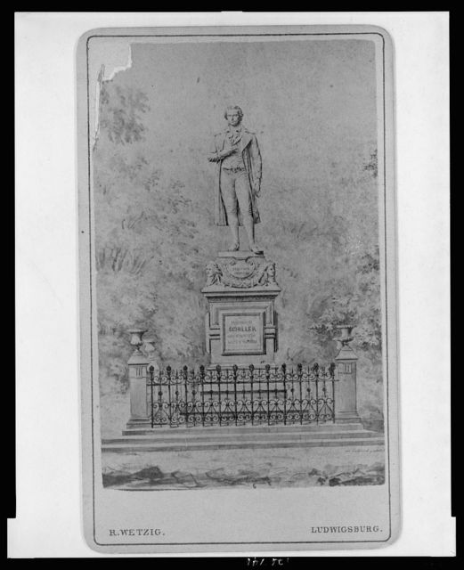[Drawing of Schiller monument in Marbach am Neckar, Germany] / R. Wetzig, Ludwigsburg.
