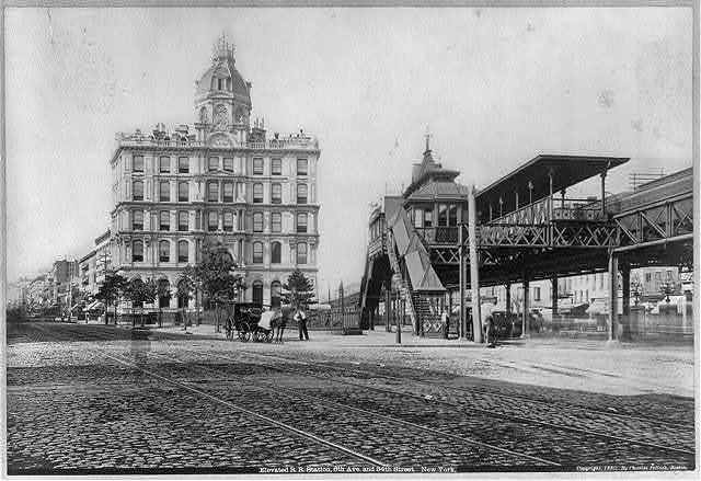 Elevated R.R. station, 6th Ave. and 34th Street, New York