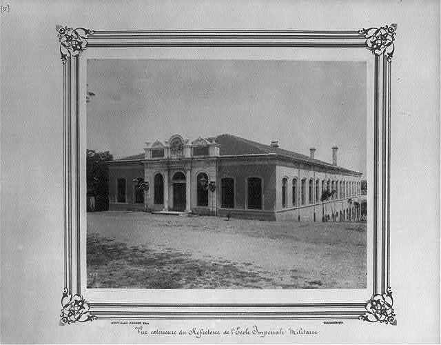[Exterior view of the dining hall at the Imperial Military Academy] / Abdullah Frères, Phot., Constantinople.