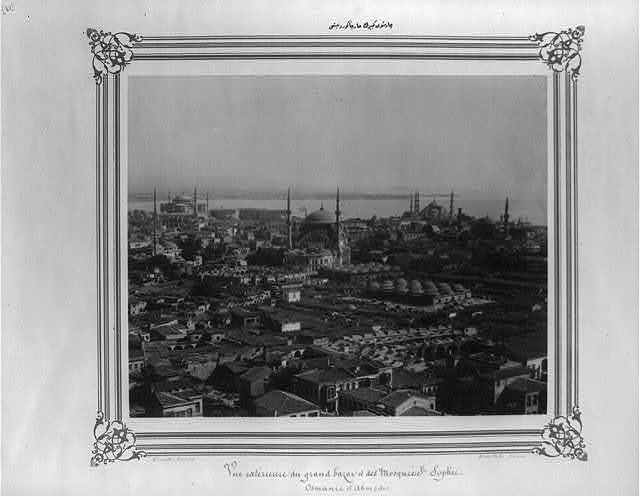 [Exterior view of the Grand Bazaar] / Constantinople, Abdullah Frères.