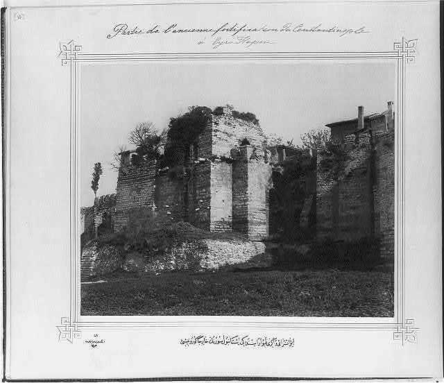 [Exterior view of the İstanbul walls between Ayvansaray and Eğrikapı] / Lieutenant Colonel of the General Staff, Ali Rıza Bey.
