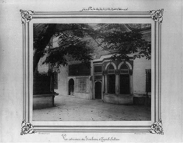 [Exterior view of the Mausoleum of Eyüp Sultan] / Constantinople, Abdullah Frères.