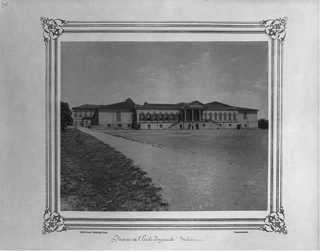 [Facade of the Imperial Military Academy] / Abdullah Frères, Phot., Constantinople.