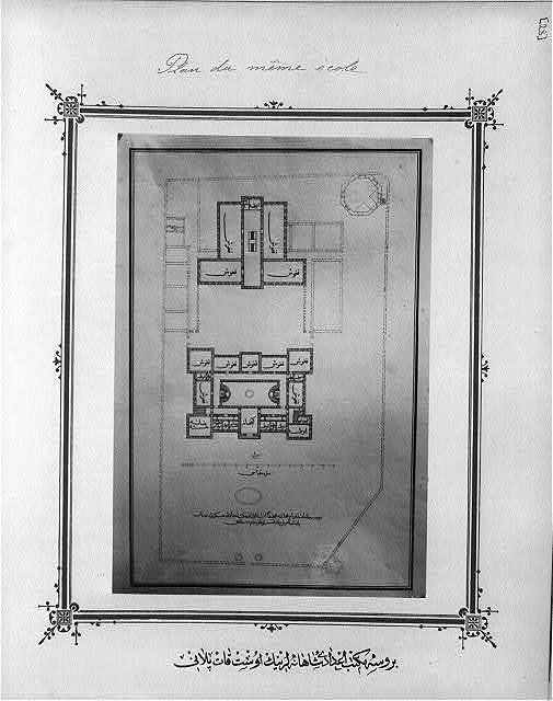 [First floor plan, imperial high school Bursa Mekteb-i İdadi-yi]