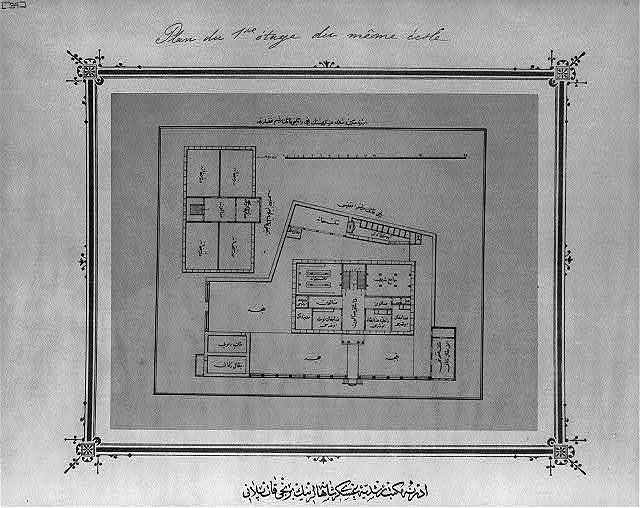 [First floor plan, imperial military middle school, Edirne]