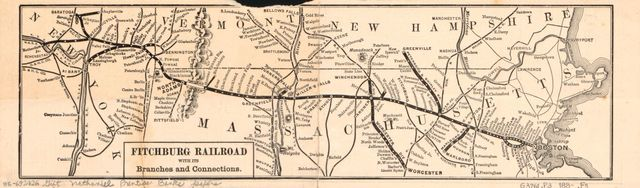 Fitchburg Railroad with its branches and connections.