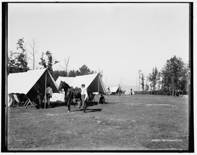 [Fort Sheridan, camp ground by the lake]