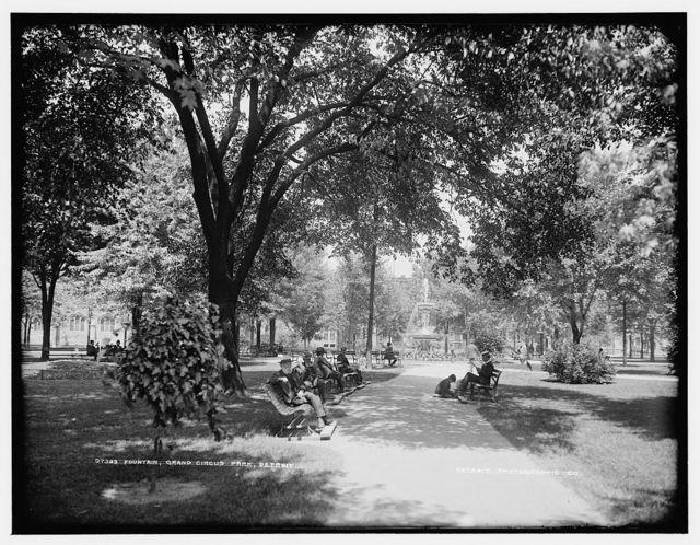 Fountain, Grand Circus Park, Detroit