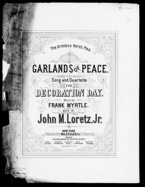 Garlands of peace; or, The armless hero's plea