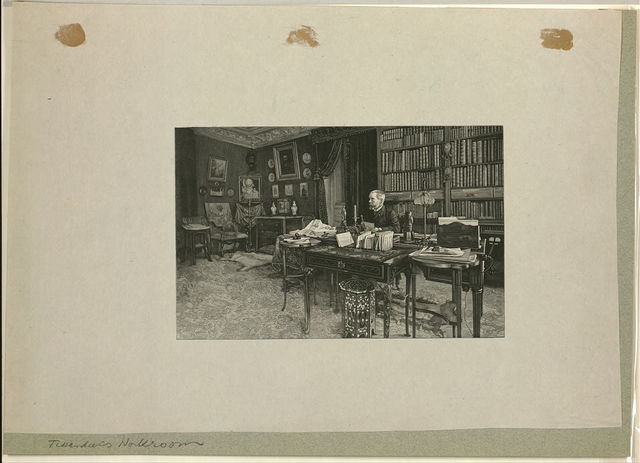 [Gaston Tissandier, French balloonist, seated at a desk in his study] / H. Thiriat.