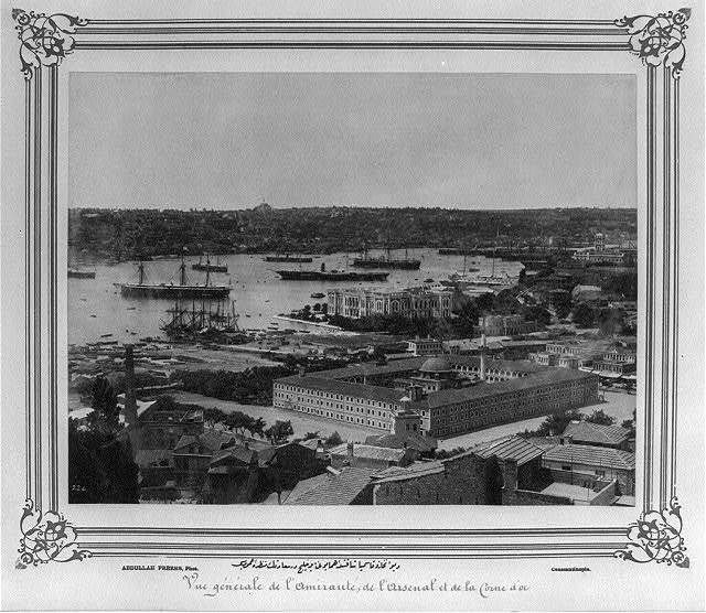 [General view of the council chamber, the Imperial Barracks in Kasımpaşa and the Golden Horn] / Abdullah Frères, Phot., Constantinople.