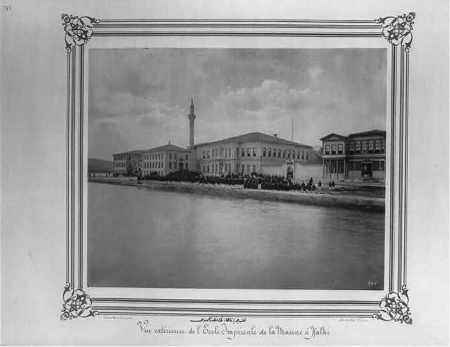 [General view of the Imperial Naval Academy] / Constantinople, Abdullah Frères.