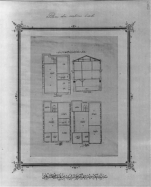 [Ground and first floor plans, imperial military middle school, Thessalonikē]