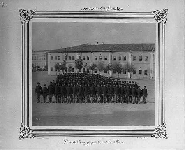 [Group photograph of the students of the artillery high school] / Abdullah frères, Constantinople.