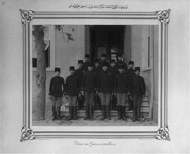 [Group photograph of the students of the Imperial School of Civil Engineering, artillery department] / Abdullah Frères, Constantinople.