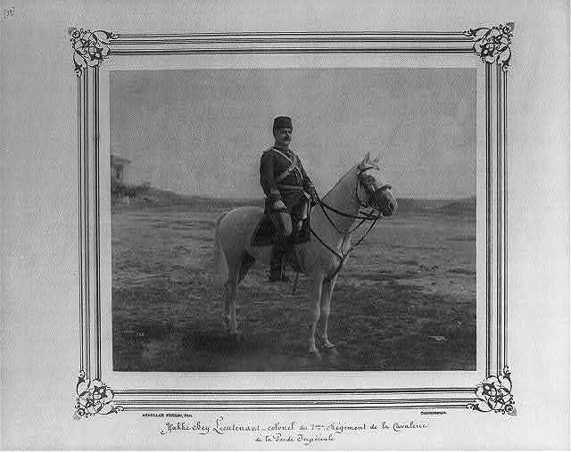 [Hakkı Bey, Lieutenant Colonel of the Second Cavalry Regiment of the Imperial Guard] / Abdullah Frères, Phot., Constantinople.