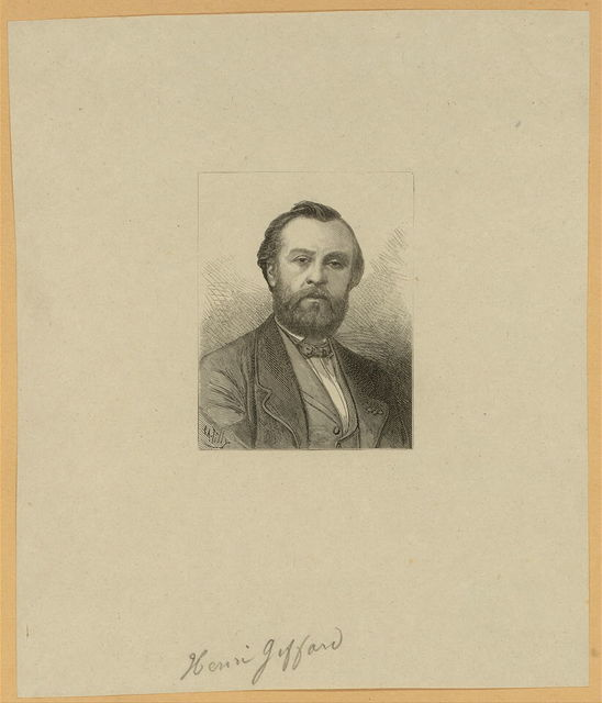 [Henri Giffard, French balloonist, head-and-shoulders portrait] / E.A. Tilly.