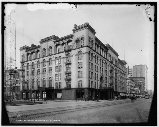 Hotel Cadillac, Washington Ave. [i.e. Boulevard], Detroit, Mich.