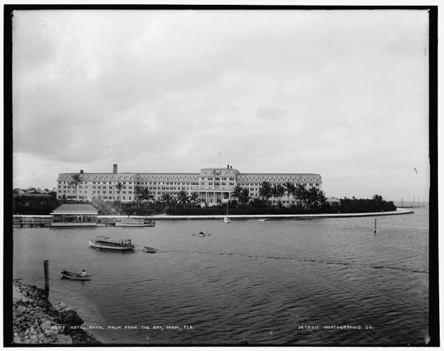 Hotel Royal Palm from the bay, Miami, Fla.