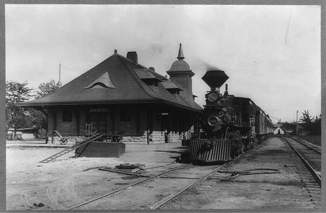 Idaho. Boise. Train standing in Short Line Depot