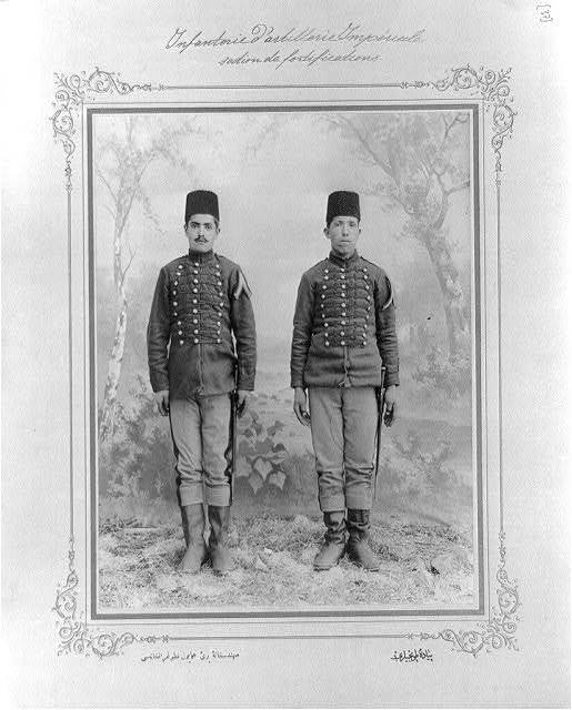 [Infantry section of the artillery] / the photograph studio of the Imperial School of Engineering.