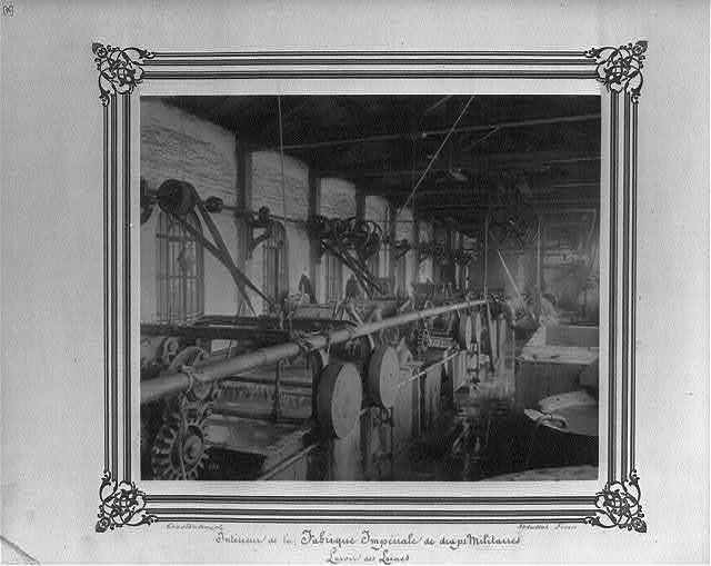 [Interior of the Imperial Military Uniforms Factory, wool washing] / Constantinople, Abdullah Frères.