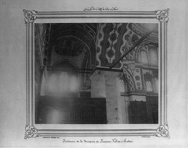 [Interior view of the (Atik) Valide Camii (mosque) in Üsküdar] / Abdullah Frères, Phot., Constantinople.