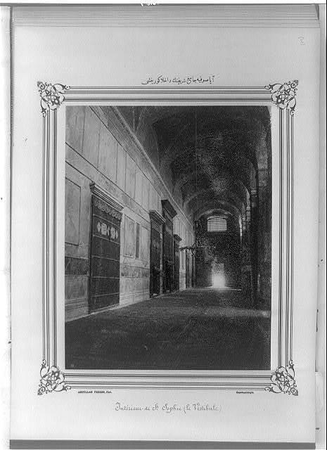 [Interior view of the Ayasofya Camii (mosque)] / Abdullah Frères, Phot., Constantinople.