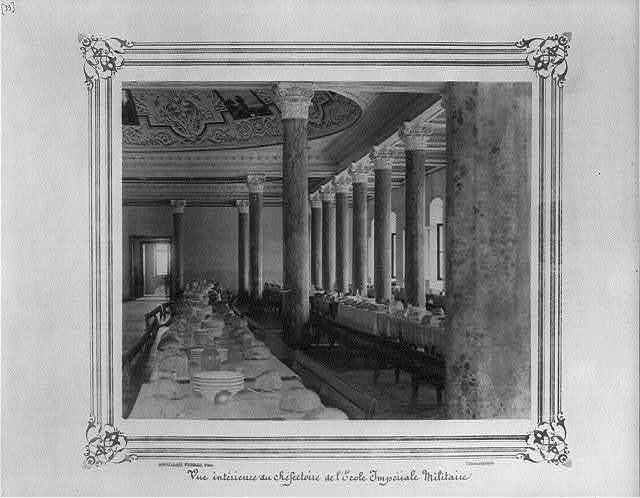 [Interior view of the dining hall at the Imperial Military Academy] / Abdullah Frères, Phot., Constantinople.