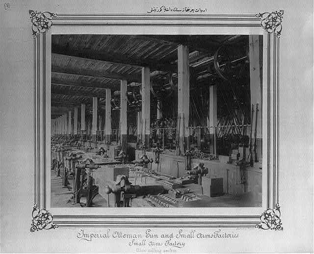 [Interior view of the tools of production workshop] / Constantinople, Abdullah Frères.