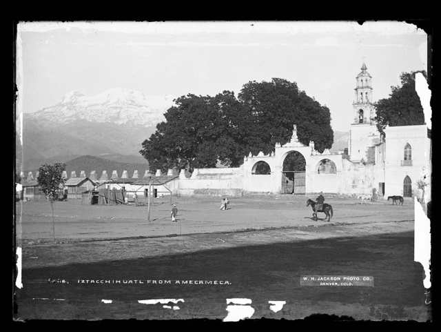 Iztacchihuatl [sic] from Amecameca