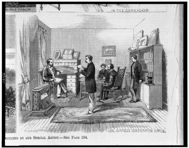 [James A. Garfield's consultation office in his home, at Mentor, Ohio]