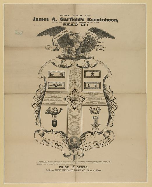 James A. Garfield's escutcheon,...