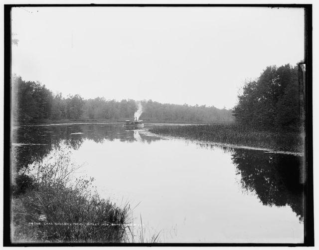 Lake Gogebic, Mich., outlet into Ontanagon River