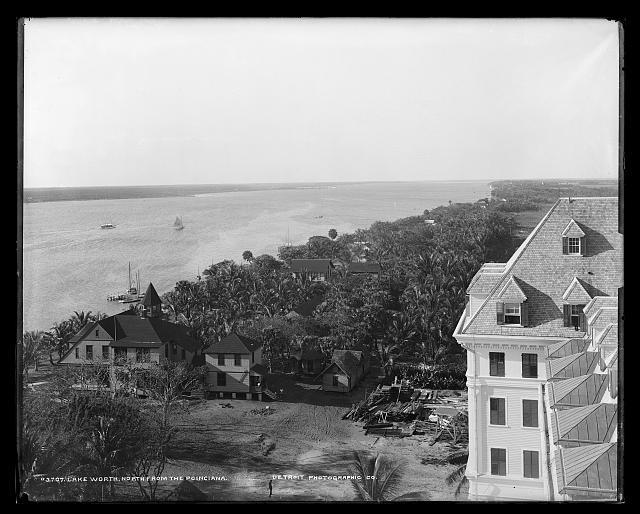 Lake Worth, north from the [Royal] Poinciana