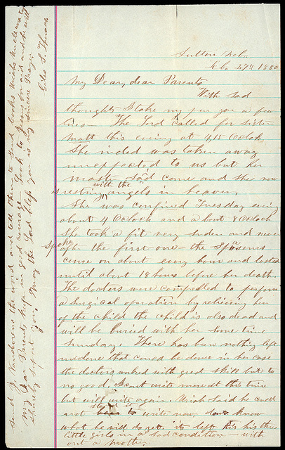 Letter from Giles S. Thomas to Thomas Family, February 27, 1880