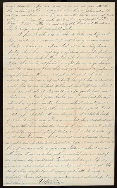 Letter from Uriah W. Oblinger to Thomas Family, September 26, 1880