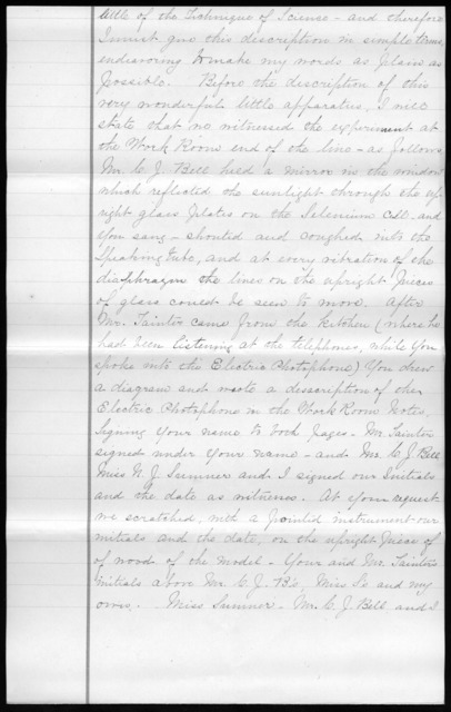 Letters from Nettie J. Sumner, Annie E. Rice and Charles J. Bell to Alexander Graham Bell, February 19, 1880