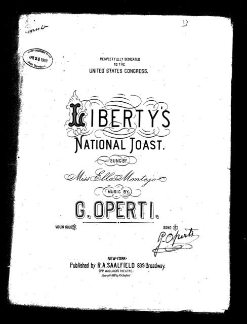 Liberty's national toast
