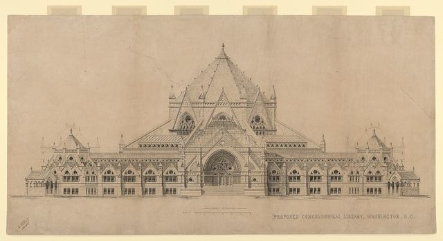 "[Library of Congress (""Congressional Library""), Washington, D.C. Front elevation] / A.R. Esty archt."