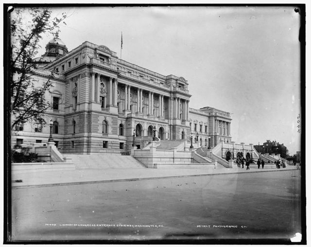 Library of Congress, entrance stairway, Washington, D.C.