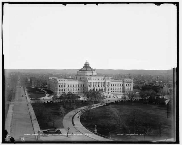 Library of Congress from Capitol dome, Washington, D.C.