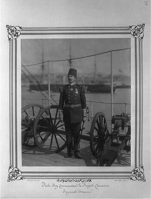 [Lt. Colonel Faik Bey, captain of the Imperial Ironclad Frigate Osmaniye] / Constantinople, Abdullah Frères.