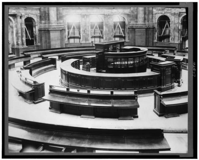 [Main Reading Room under construction in the Library of Congress Thomas Jefferson Building]