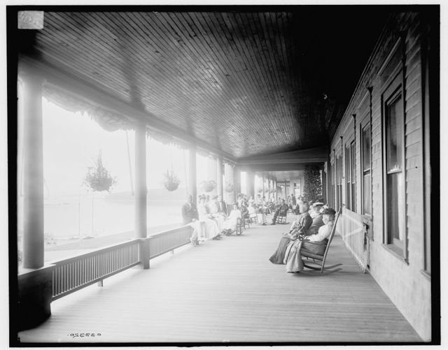 [Manhanset House, north veranda, Shelter Island, N.Y.]