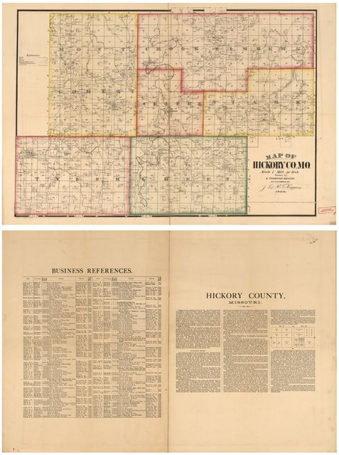 Map of Hickory Co., Mo. /